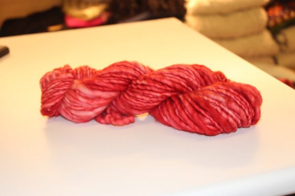 Merino Handspun Wool Red