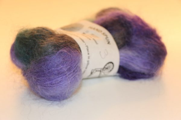 Multi-dyed Mohair Purple/Black