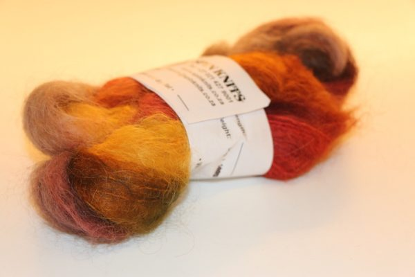 Multi-dyed Mohair Orange