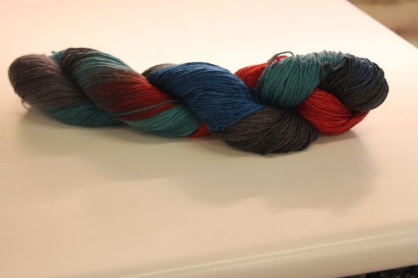 Soul Silk Tri Colour Mix Orange/Blue