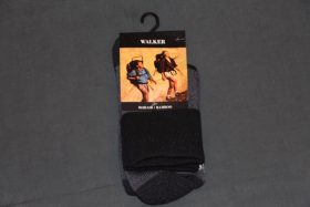 Walker Socks Black/Charcoal